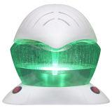 Hoja de base de agua purificador de aire y aceite esencial con LED.