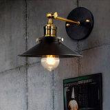 Lumière industrielle de dispositif de lampe de mur de cru réglable de café avec l'ampoule d'Edison