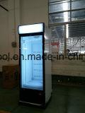 Baixo congelador de vidro vertical ruidoso do refrigerador do gelado da porta