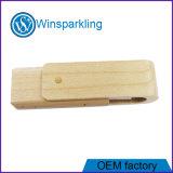 Movimentação do flash do USB da movimentação do USB da madeira da torção da alta qualidade