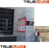 La section de mât de peinture bâtiment cage double palan