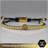 De gouden Armband Msbb002 van Anil Arjandas van de Parel van het Roestvrij staal