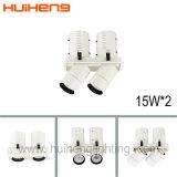 Doppeltes HauptaluminiumDimmable 2*15W LED einziehbares Gitter-Licht