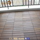 Azulejos al aire libre barato reciclables calientes de la cubierta del suelo WPC de la venta que se enclavijan