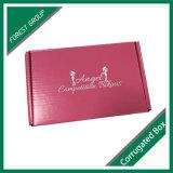 Cor cor-de-rosa feita sob encomenda caixa de empacotamento corrugada dobrada