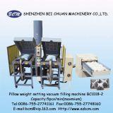 Cardado de la fibra y máquina de rellenar del vacío de la configuración del peso del amortiguador