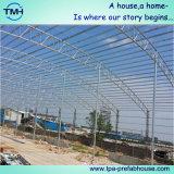 La estructura de bastidor de acero de la construcción de almacén de taller para la construcción de hangar