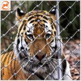 フェルールか結ばれたステンレス鋼ケーブルの動物園ロープの網