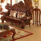 Il sofà di cuoio di legno antico ha impostato per mobilia domestica (529)