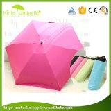 5折るマニュアルの開いた極度の小型小型の傘