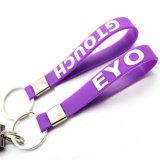 Anello portachiavi su ordinazione del silicone di marchio della fabbrica, Keychain di gomma, PVC Keychain