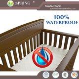 排他的な180GSM 100%のタケのテリーのアレルゲンの証拠の赤ん坊の尿のまぐさ桶の防水マットレスのまぐさ桶カバー