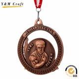 Brindes Promocionais Metal Personalizado Sport Honra Award Medalha de fita