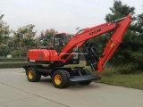 Excavadora de rueda con tenazas de registro, Caña de Azúcar pala de carga de residuos para Venta caliente