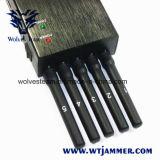 3G 4G todo o jammer portátil do telefone de pilha da freqüência com a antena 5 poderosa (4G LTE + 4G Wimax)