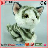 Realistisches weiches Grau des angefüllten Tier-En71/Ingwertabby-Plüsch-Spielzeug-Katze