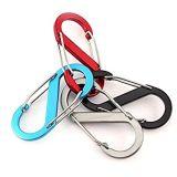 L'aluminium S-clip boucle Mousqueton ressort double Porte mousqueton