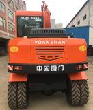 7.0 Toneladas, 0,25 cbm chino Mini excavadoras de ruedas para la venta