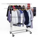 Горячая продажа двойные одежды в топливораспределительной рампе коммерческого уровня для установки в стойку с регулировкой по высоте новой одежды Одежда для тяжелого режима работы для установки в стойку для магазинов