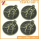 Medalha personalizada do chapeamento de ouro do metal da liga do zinco com logotipo