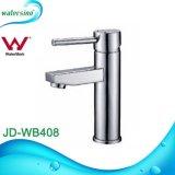 Faucet раковины мытья черной руки ванной комнаты водяной знак
