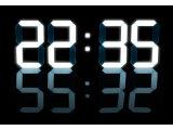 Relógio de parede de grande tamanho LED 3D com alarme