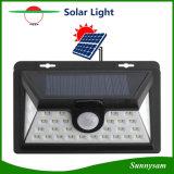 34 modes fonctionnants IP65 de la lumière 3 solaires de détecteur de mur de DEL imperméabilisent la lumière de garantie activée par mouvement pour le jardin extérieur