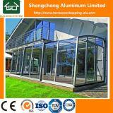 Casas modernas do vidro Tempered do Sunroom de vidro exterior do edifício com prova do calor/som/água