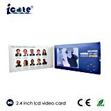 Изготовленный на заказ визитная карточка LCD видео-