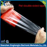 Feuilles en PET transparent adhésif acrylique chemise rouge ruban adhésif double face