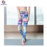 女性の適性の摩耗の印刷のズボンの伸縮性があるレギングのタイツのヨガの摩耗