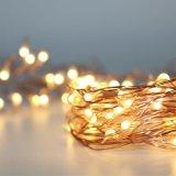 Медный свет шнура провода СИД Fairy для рождества