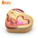 결혼식 또는 발렌타인 데이 동안 심혼 모양 초콜렛 금속 주석