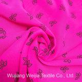 50d*75D a estampé la mousseline de soie en soie imitée pour des vêtements de femmes