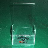Único grampo acrílico plástico feito sob encomenda do suporte da pena