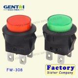 Interruptor de botón iluminado 2 posiciones encendido-apagado bipolar de 220 voltios