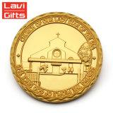 Moneta fortunata a buon mercato personalizzata all'ingrosso del ricordo dell'istituto universitario del metallo di disegno