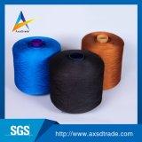 手袋の編むヤーンのための未加工白い黒100%年のポリエステルヤーン