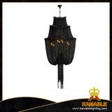 Lampe noire à chaînes s'arrêtante moderne de projet de lustre (ka116)