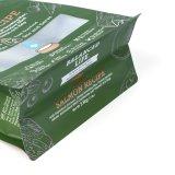 Sacchetto dell'alimento per animali domestici della parte inferiore piana della finestra della stagnola della maniglia