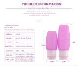 Venda por atacado do curso Leak-Proof limpo fácil do silicone do produto comestível de 48/78 de Ml frascos ajustados