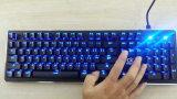 LED Backlit USB verdrahtete RGB-mechanische Spiel-Tastatur