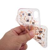 Glitter de Bling com a caixa macia do telefone móvel do escudo TPU para o iPhone X