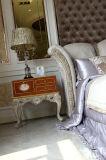0066 Europäer-antike Schlafzimmer-Möbel-feste hölzerne schnitzende Möbel