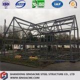 Chalet ligero prefabricado de la estructura de acero con diseño