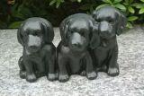 Decoração da HOME e do jardim do ferro de molde/cão de Polyresin