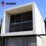 Ideabond hohe silberne Wand-Umhüllung der Gebäude-Wand-Dekoration-PVDF (AF-403)