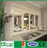Finestra piegante della Bi di alluminio bianca rivestita della polvere