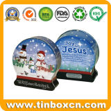 Mini pequeños estaños de la Navidad del regalo del metal para el rectángulo de almacenaje del caramelo
