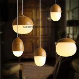 De moderne Lamp van de Tegenhanger met Houten Kleur voor Koffie Bar Gebruik